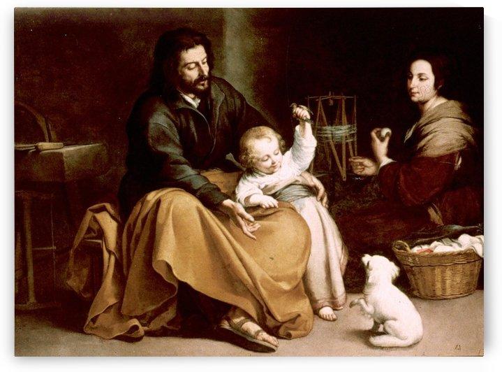 La sagrada familia by Bartolome Esteban Murillo