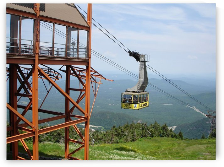 Cannon Mountain Tramway Reaches The  Summit     by FoxHollowArt