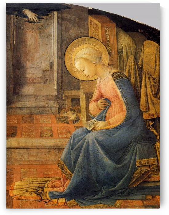 The anunciation with a pigeon by Fra Filippo Lippi