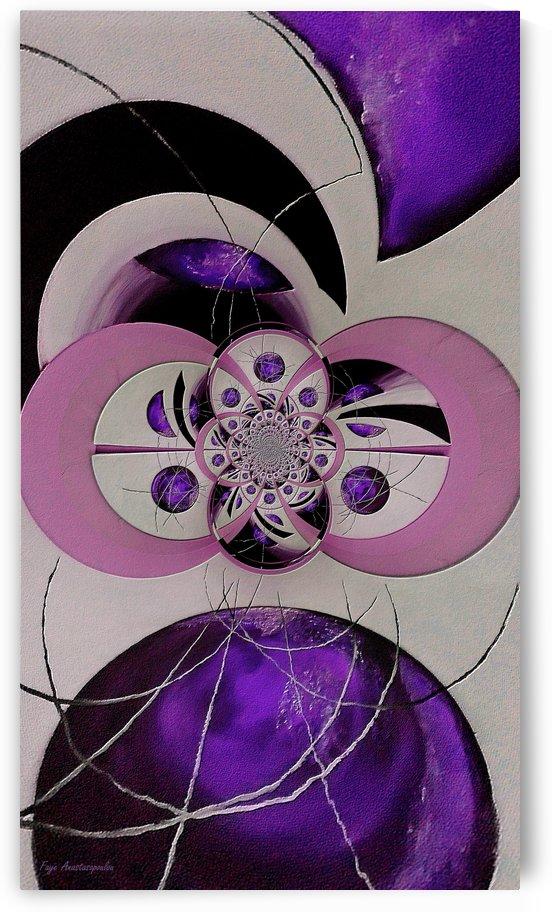 Cosmic Kaleidoscope Amethyst by Faye Anastasopoulou