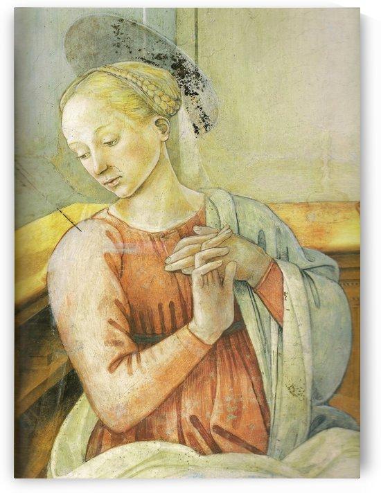 Annun of detail by Fra Filippo Lippi