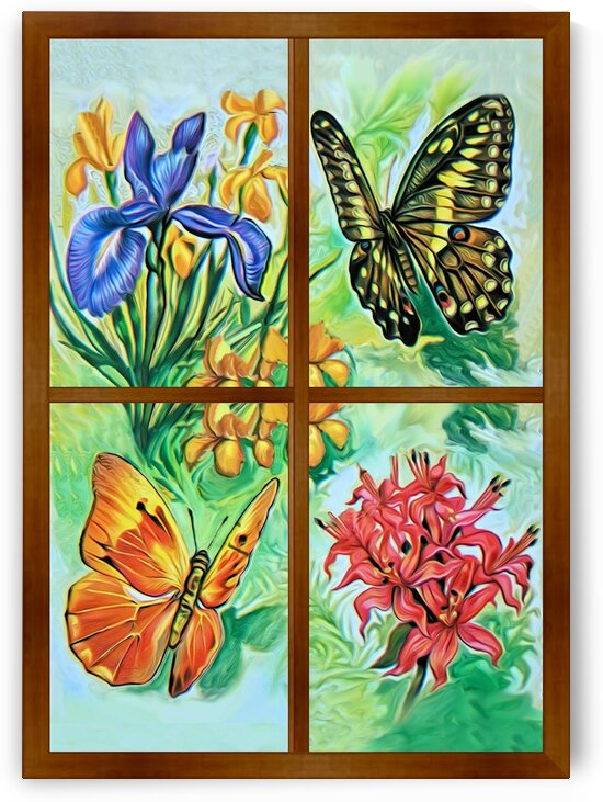 Window to world of nature 4 by Radiy Bohem