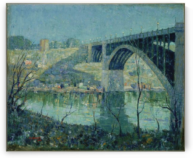 Spring Night Harlem River by Ernest Lawson
