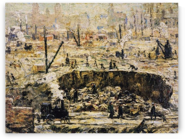 Excavation Penn Station by Ernest Lawson