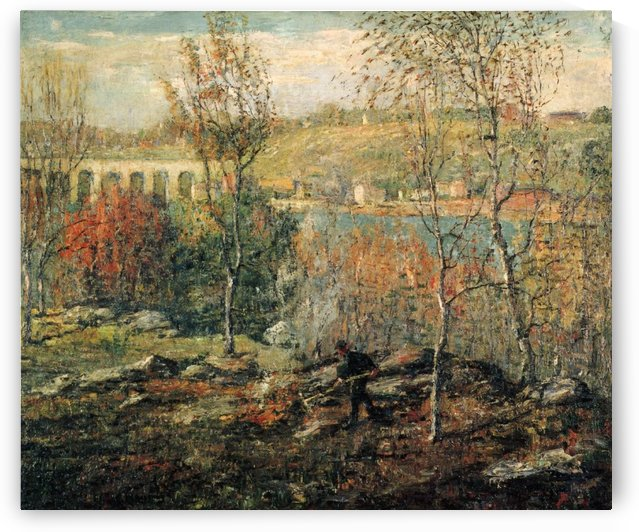 Trees and water by Ernest Lawson