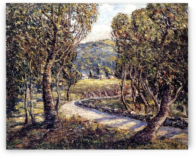 Road through the forest by Ernest Lawson