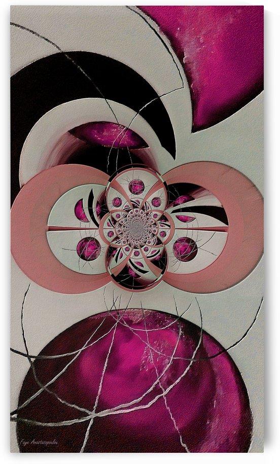 Cosmic Kaleidoscope Fuchsia by Faye Anastasopoulou
