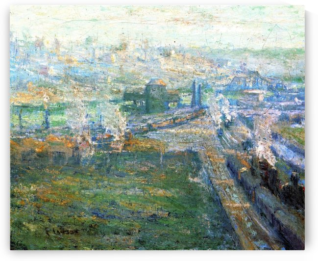 City landscape by Ernest Lawson