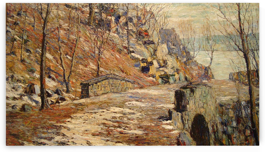 Bridge on a road by Ernest Lawson