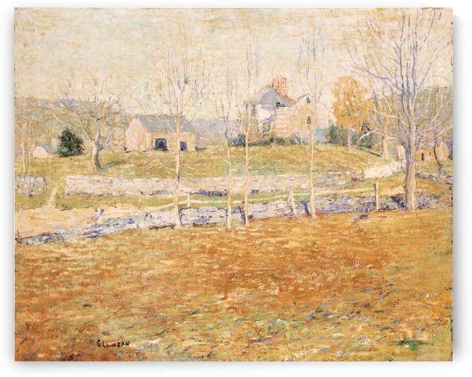An abandoned farm by Ernest Lawson