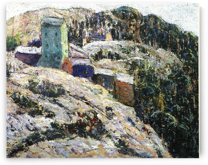 Houses on the hill by Ernest Lawson