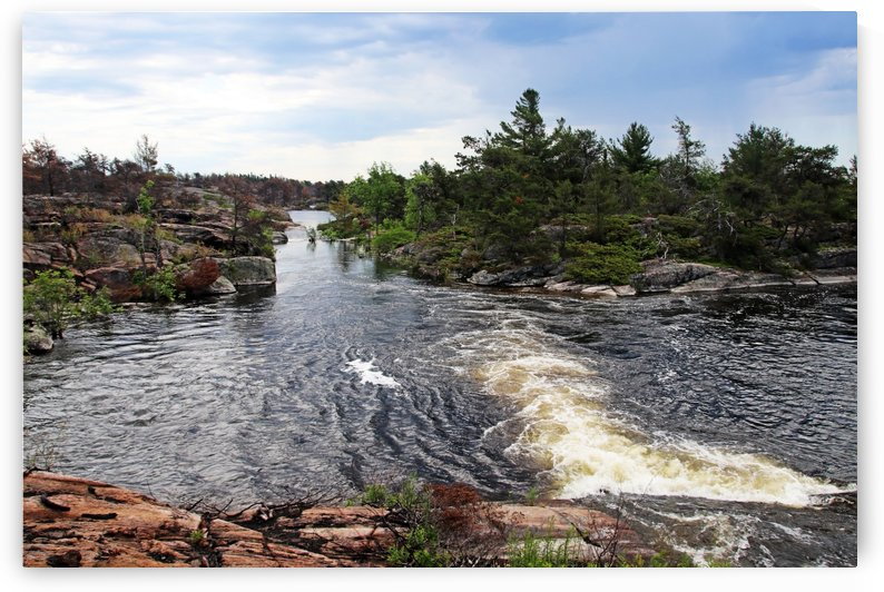 Pickerel River Outlet Cascades III by Deb Oppermann