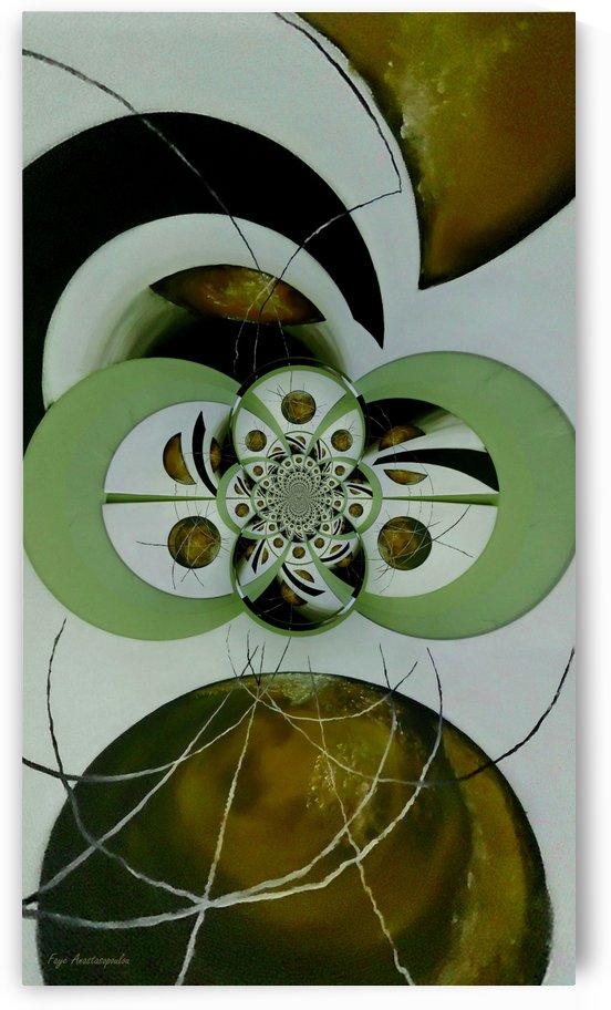 Cosmic Kaleidoscope Gold by Faye Anastasopoulou