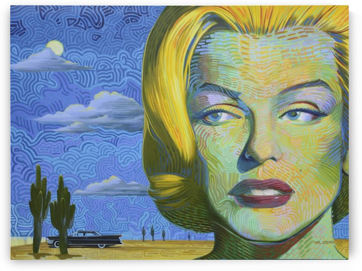 Marilyn Monroes Desert Adventure by Mr  Atomic Art