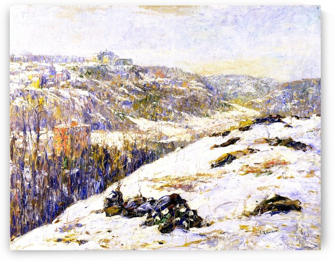 Harlem river winter by Ernest Lawson