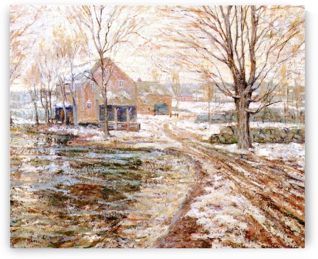 House in winter by Ernest Lawson