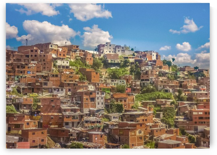Favelas at Hill, Medellin, Colombia by Daniel Ferreia Leites Ciccarino