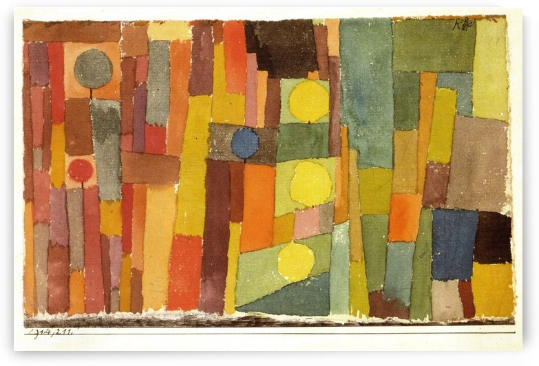 In the style of kairouan by Paul Klee