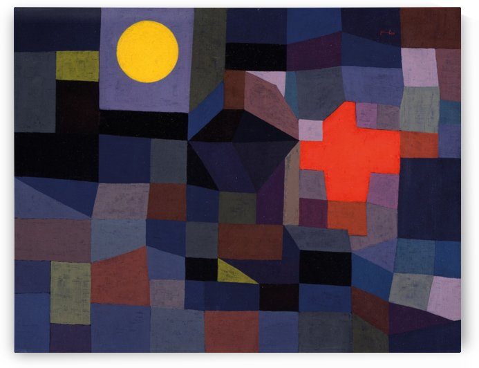 Fire at the full moon by Paul Klee