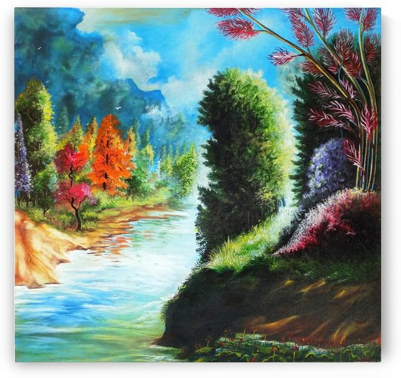 MOTHER NATURE LANDSCAPE PAINTING 2 by ASP ARTS