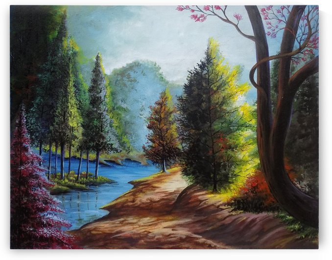 MOTHER NATURE LANDSCAPE PAINTING 1 by ASP ARTS