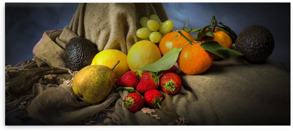 A mixture of fresh fruit by Leighton Collins
