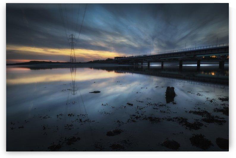 Loughor estuary rail bridge by Leighton Collins