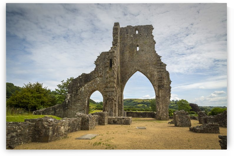 The ruins of Talley Abbey by Leighton Collins