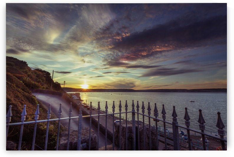 Sunset at Mumbles by Leighton Collins