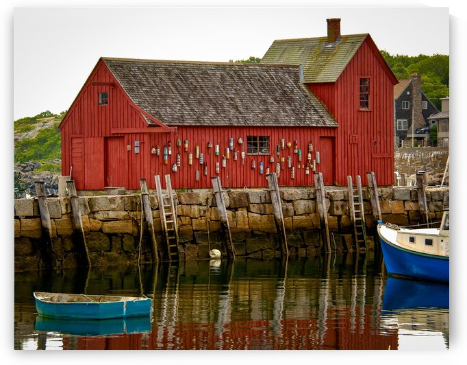 Motif Number 1 - Rockport MA by Dave Therrien