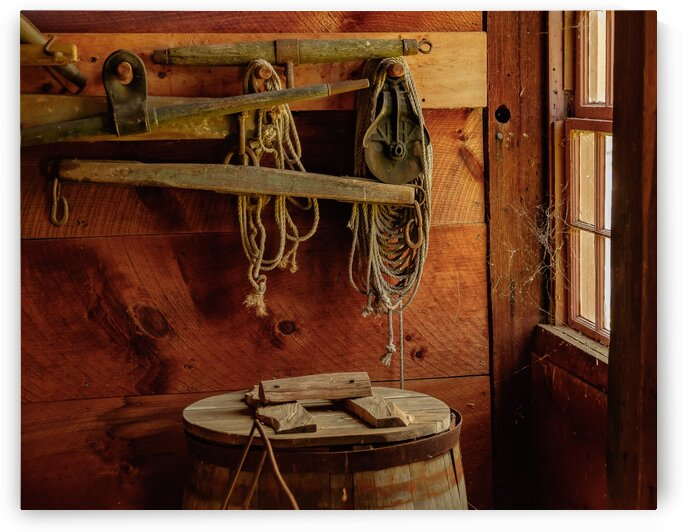 Barn Ropes by Dave Therrien