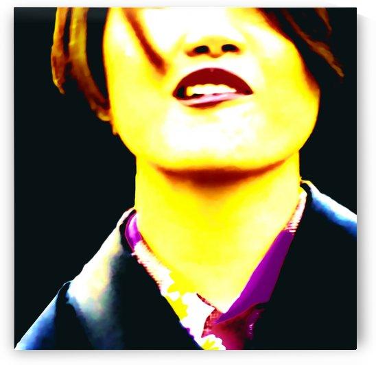 Asian Woman Pop Art Portait by Daniel Ferreia Leites Ciccarino
