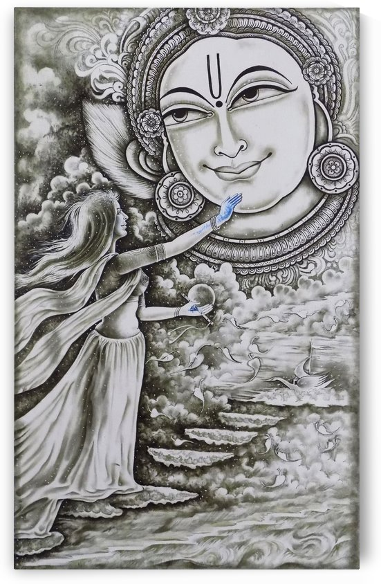 KRISHNA RADHA THE TOUCH OF BLUE  by ASP ARTS