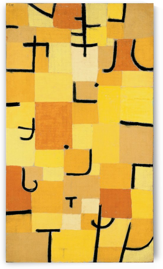 Characters in yellow by Paul Klee