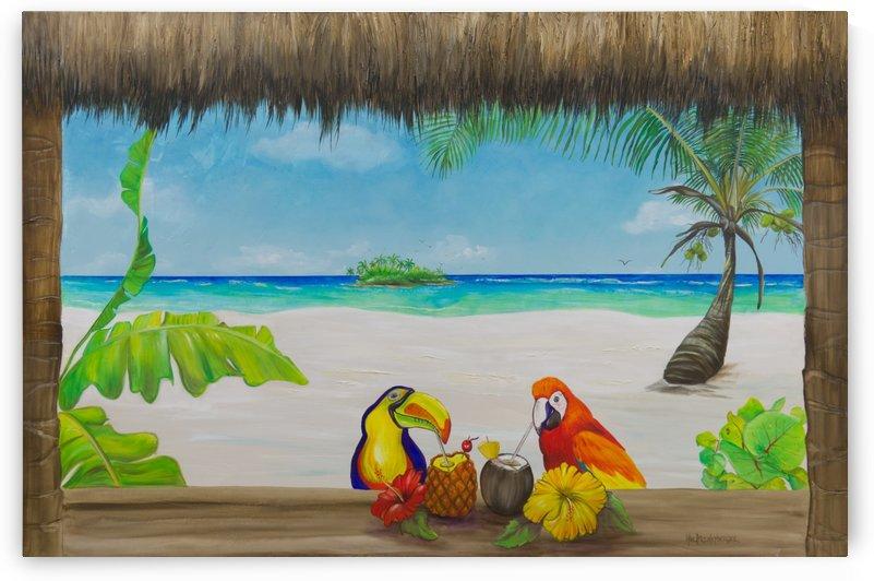 Beach tiki  by Art Turquoise