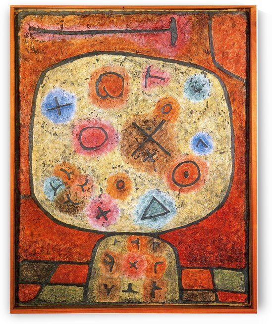Flowers in stone by Paul Klee
