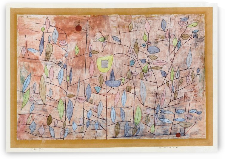 Sparse foliage by Paul Klee