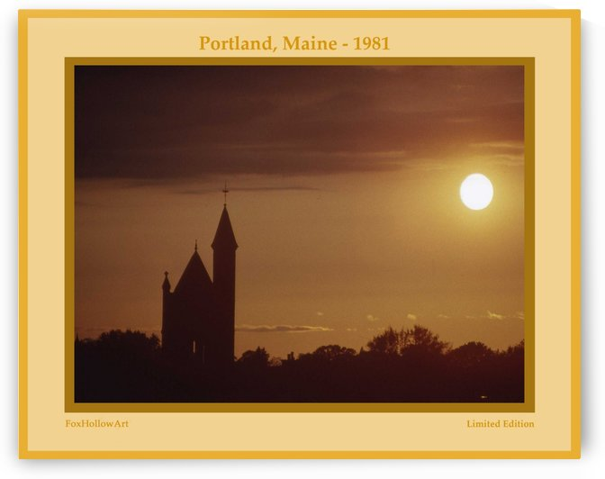 Portland Maine 1981 by FoxHollowArt
