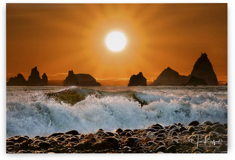 Sunset at Rialto Beach by James Radford