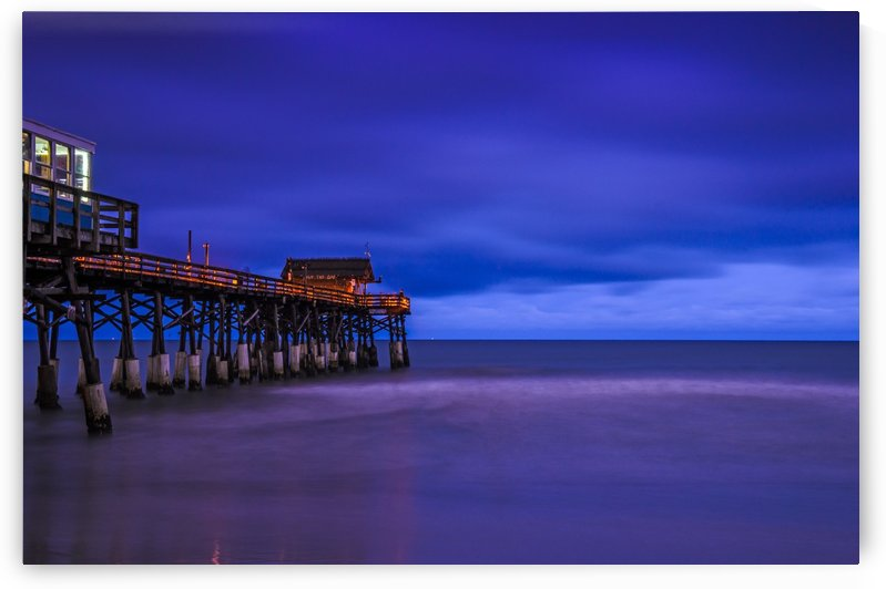Pier at Dawn by Luis Bonetti
