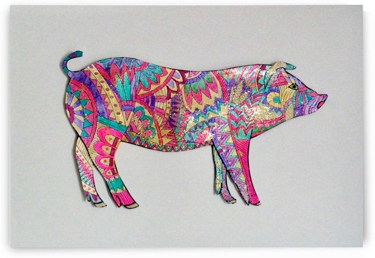 Pig  by Zaramar Paintings