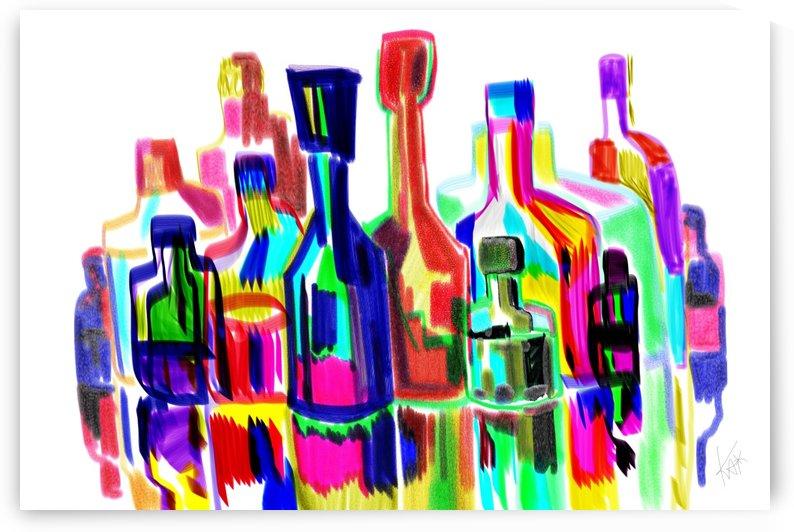 Bottles like NY city by KAi