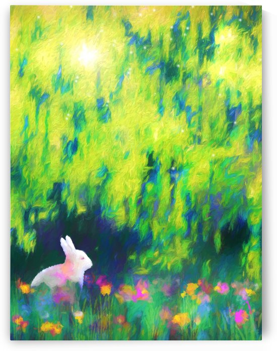 Bunny beneath the Willow Tree by Jon Woodhams