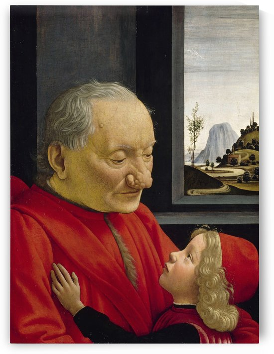 Old man and his son by Domenico Ghirlandaio