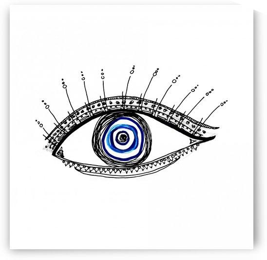 The Eye  12X12 1 1 by ANASTASIA SKARLATOUDI