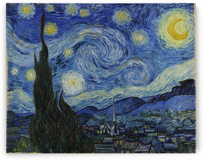 Vincent Van Gogh: The Starry Night HD 300ppi by Famous Paintings