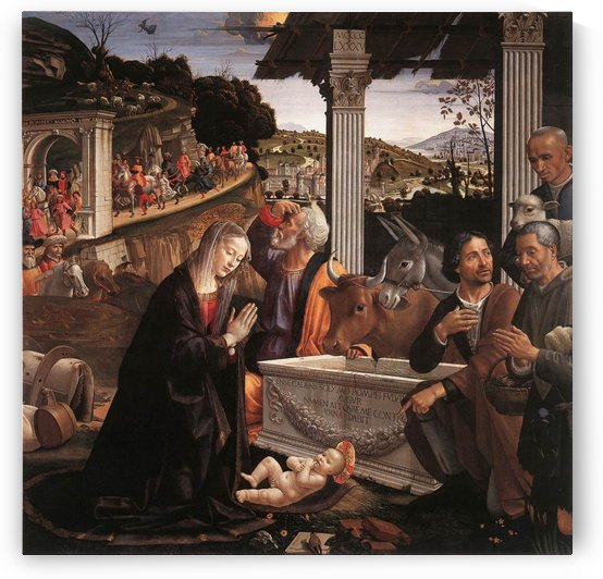 The adoration of the sheperds by Domenico Ghirlandaio
