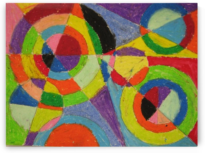 Color explosion by Robert Delaunay