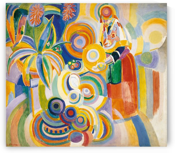 Tall portuguese woman by Robert Delaunay