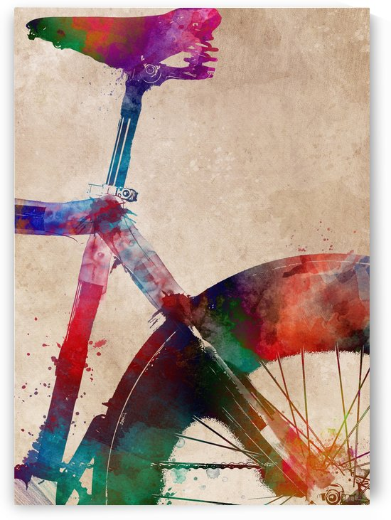 Bike cycling art by Justyna Jaszke
